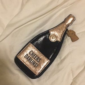Kate spade champagne bottle coin case